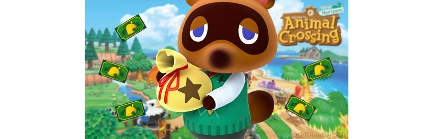 animal crossing sales new horizons title screen logo