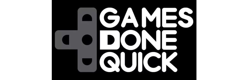 awesome games done quick 2021 title screen logo