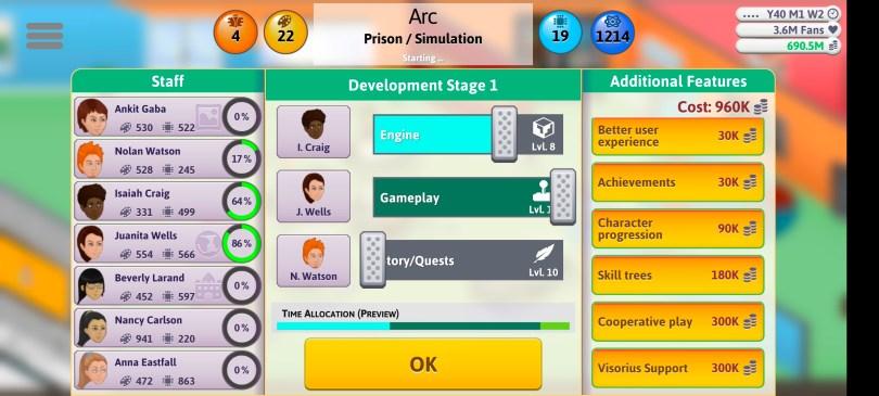 Simulation Game Sliders 1