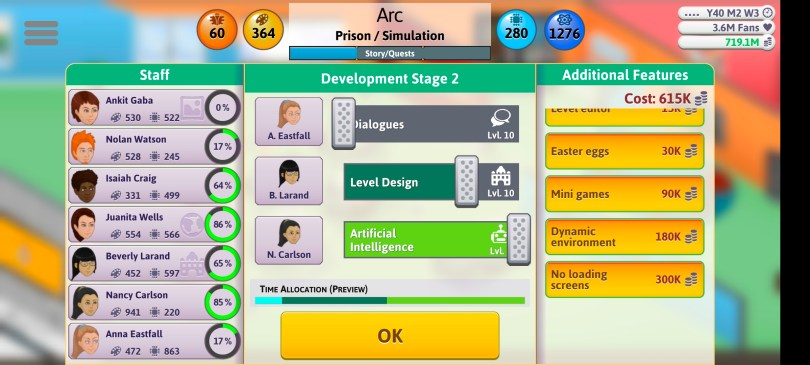 Simulation Game Sliders 2