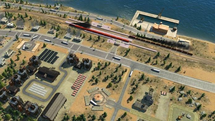 Complexo de indústria e paragens, estações e cais de transporte de mercadorias em Transport Fever