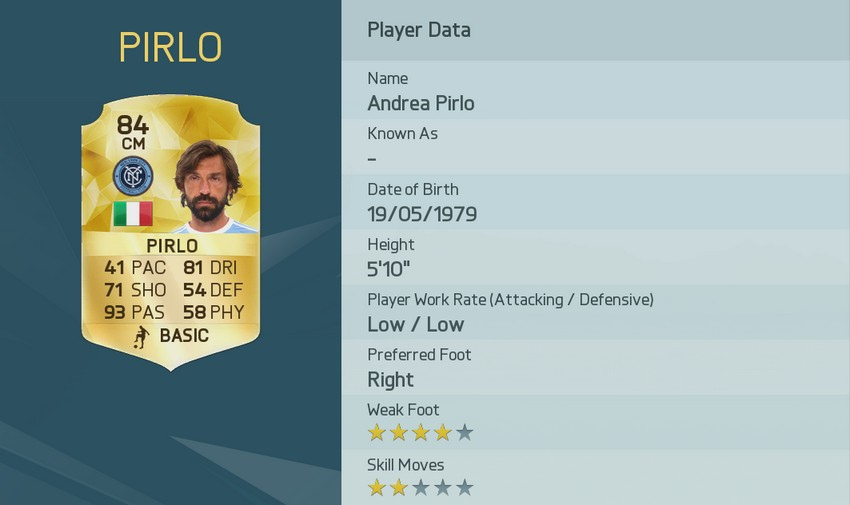 1 Andrea Pirlo FIFA 16 FUT die besten Passgeber