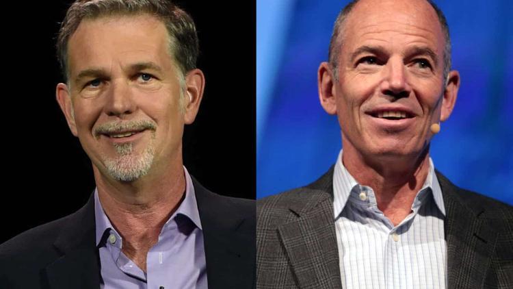 Die beiden Netflix Gründer Wilmot Reed Hastings Jr. und Marc Bernays Randolph