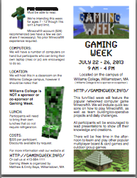 Gaming Week Brochure