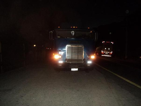 Viajando en camion por Chile .