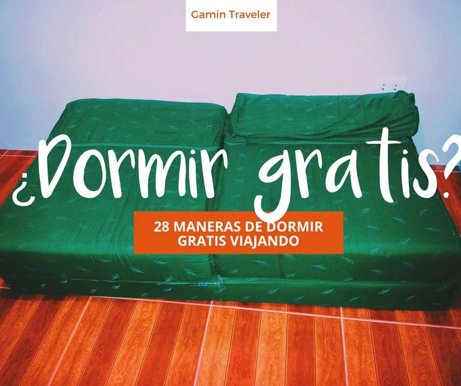 28 MANERAS DE DORMIR GRATIS VIAJANDO
