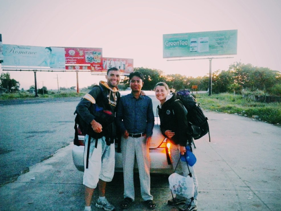 Travel Myanmar in a low budget. Hitchhiking