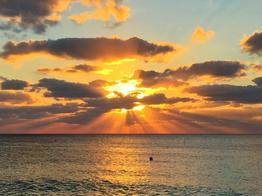 Sunset at Cayman