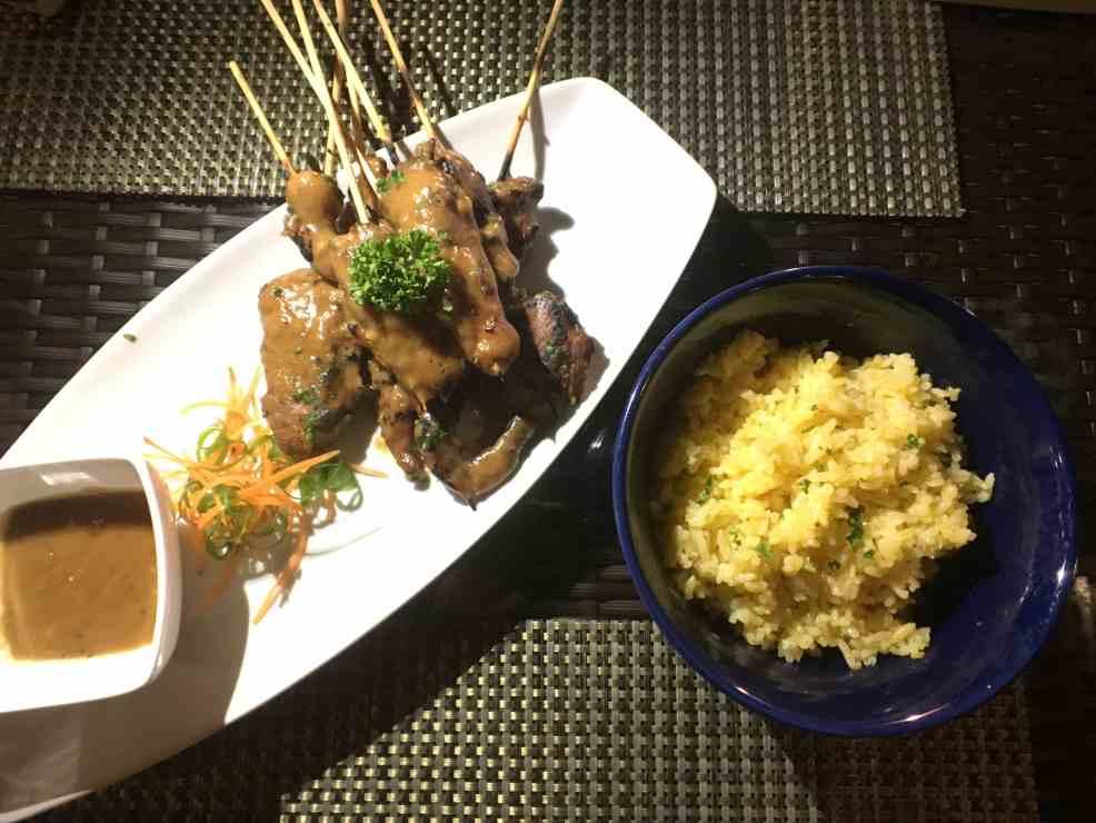 Chicken Satay at The Ruf Resto