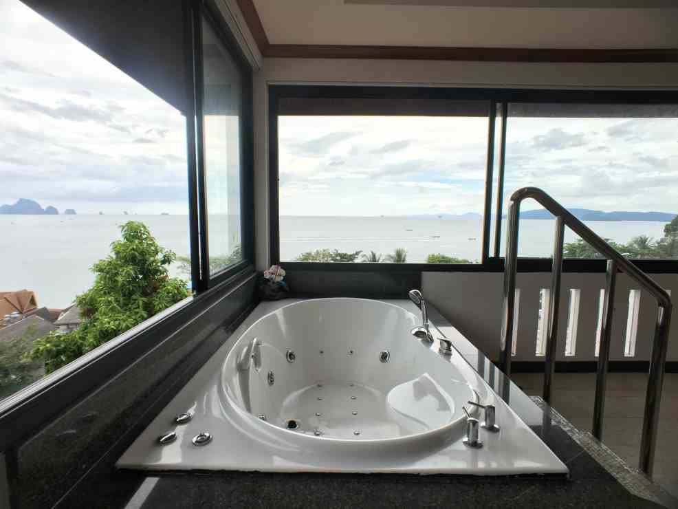Jacuzzi for a luxury vacation in Thailand.