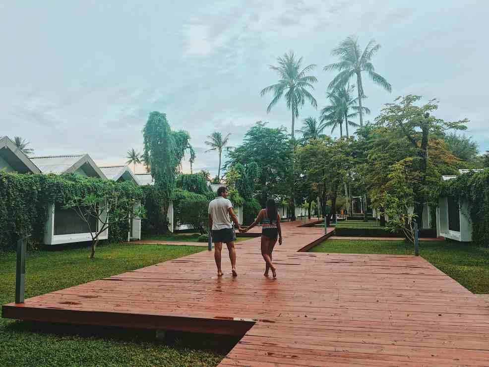Walking around X2 Koh Samui Resort