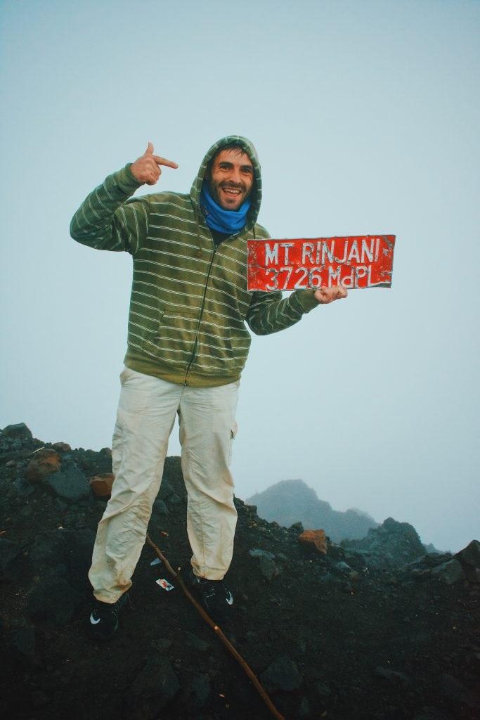 summit climbing Mount Rinjani