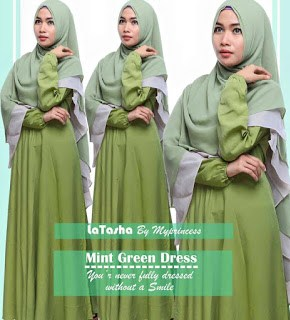 Gamis Latasha Mint Green Dress
