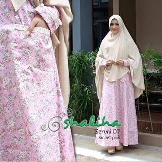 Gamis Shaliha Seruni Sweet Pink