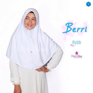 Hijab Alsa Berri Putih