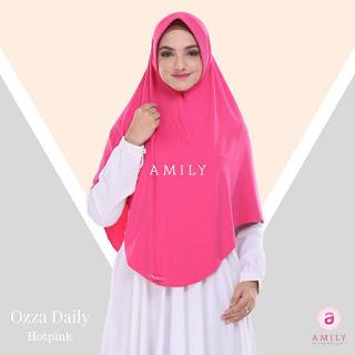 Hijab Amily Ozza Daily Hot Pink