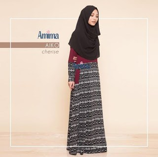 Gamis Amima Aiko Dress Cherise