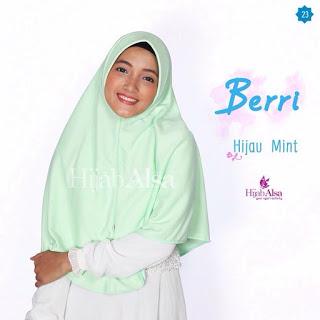 Hijab Alsa Berri Hijau Mint