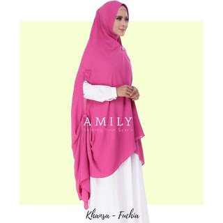 Hijab Amily Khimar Khansa Fuchia