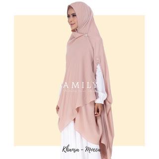 Hijab Amily Khimar Khansa Mocca