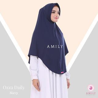 Hijab Amily Ozza Daily Navy