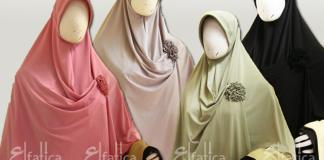 jilbab instan semi formal model wardah