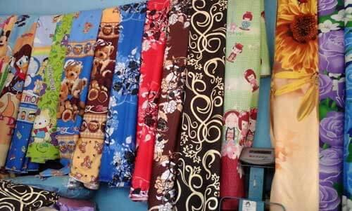 contoh bahan kain katun biasa atau lokal