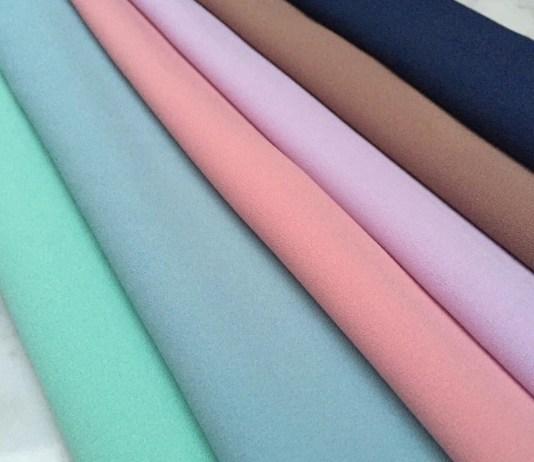 contoh bahan kain wolly crepe