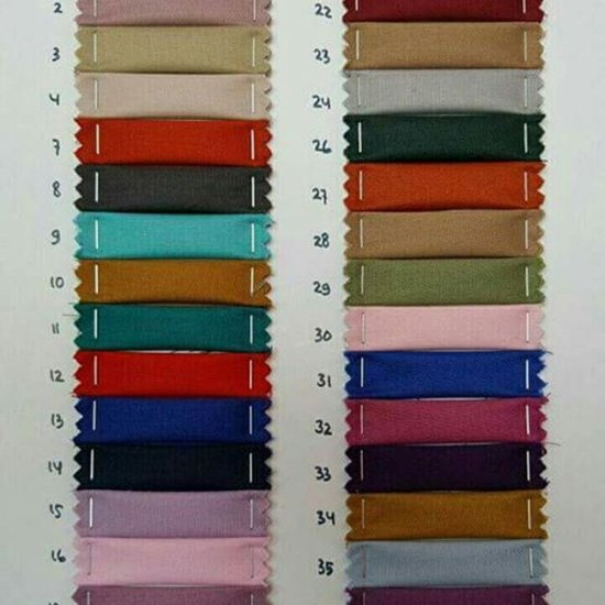 pilihan warna bahan kain toyobo