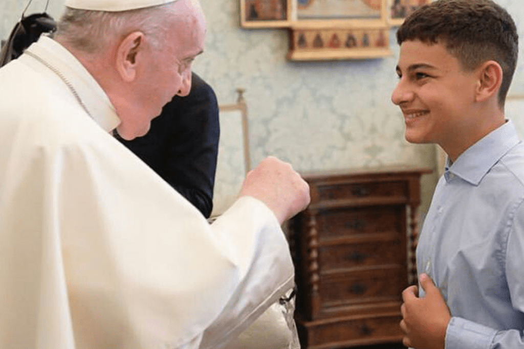 Pope Francis Meets Young Sportsmen From GAMMA Italy