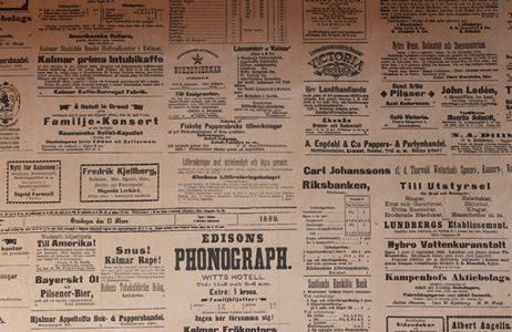 Presentpapper Tidning omslagspapper