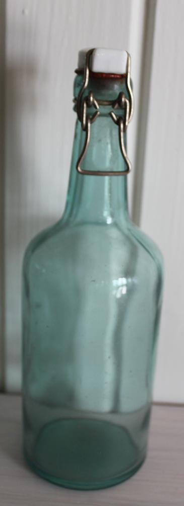 Glasflaska   Blå