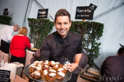 Chef Ryan Scott (Market and Rye) with sticky buns for Sunday's 'Brunch by the Bay' in the Grand Tasting Tent