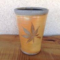 Vase with Maple Leaf