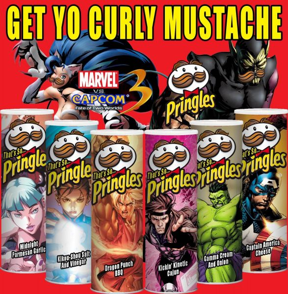 Marvel- och Street Fighter-Pringles