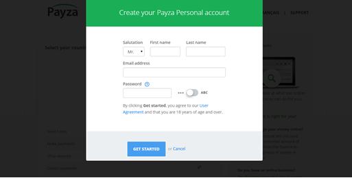 Abrir Cuenta en Payza