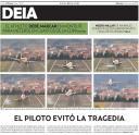 Aterrizaje en Loiu de un avion de Iberia