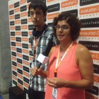 Equipo ganador del hackathon de periodistas del Euskal Encounter