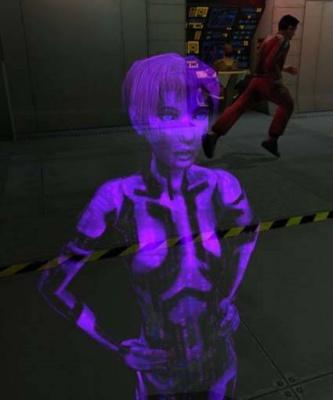 Cortana in her original form in Halo: Combat E...