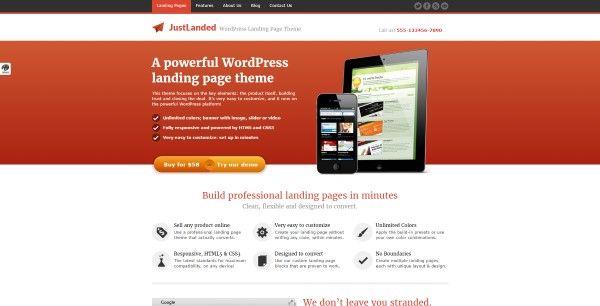plantillas web wordpress página aterrizaje