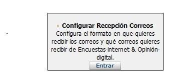 recepción de correos Opinion Digital