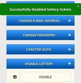 Desactivar Lotería FreeBitcoin