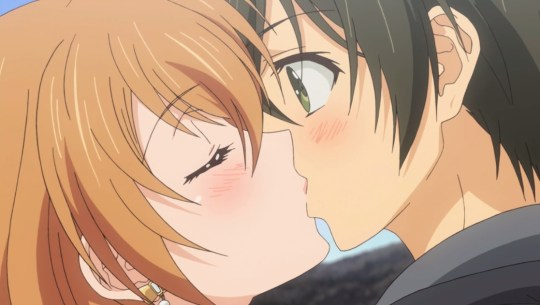 golden time kouko x banri kiss