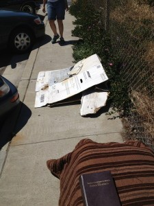Bible in a homeless encampment on 19th
