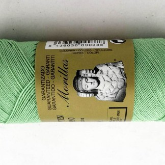 Zepelín color verde 1 de algodón perlé 100% egipcio