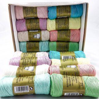 Caja 16 zepelines N12 colores claros de algodón 100% egipcio