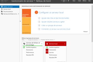 Présentation et configuration windows server 2016