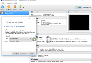 Virtualiseur VirtualBox