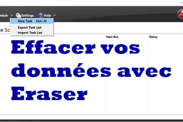 L'interface Eraser