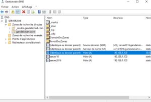 Gestionnaire DNS création de votre zone windows server